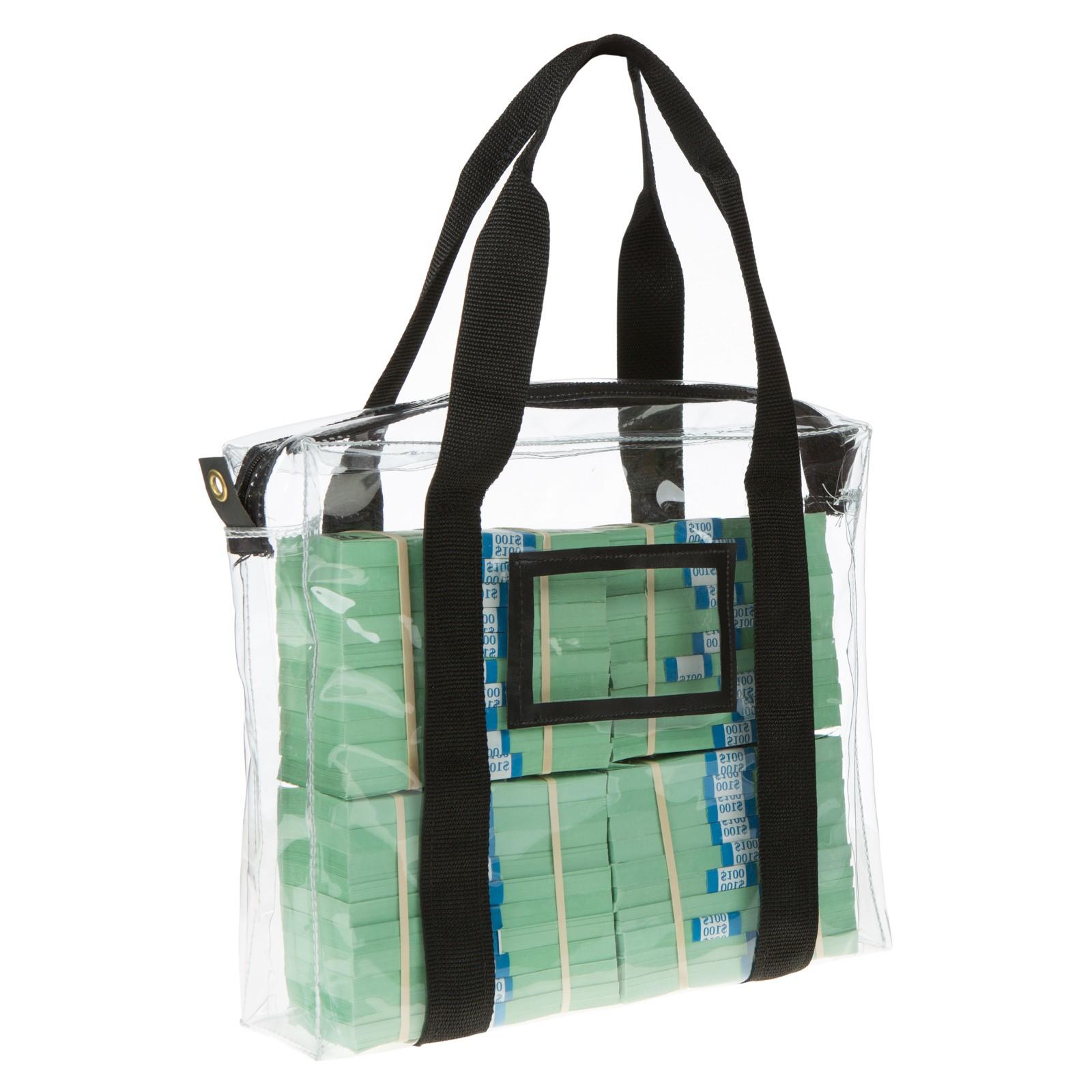 14w X 11h X 3d Clear Vinyl Bag W Handles Made To Order