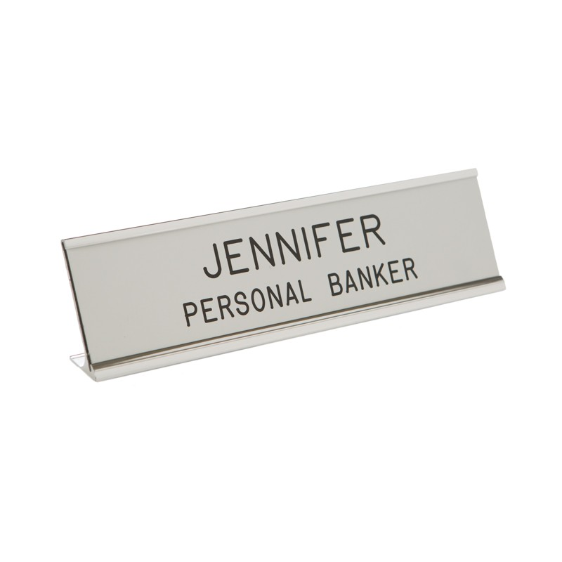 Desk Nameplate With Frame - 10W x 2H - 2 Line