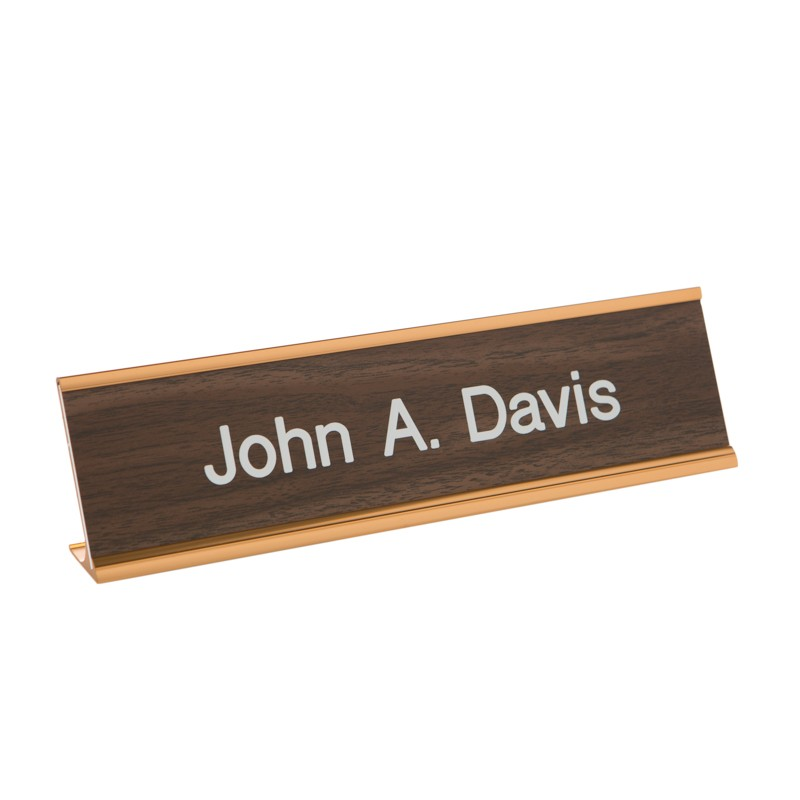 Desk Nameplate With Frame - 10W x 2H - 1 Line