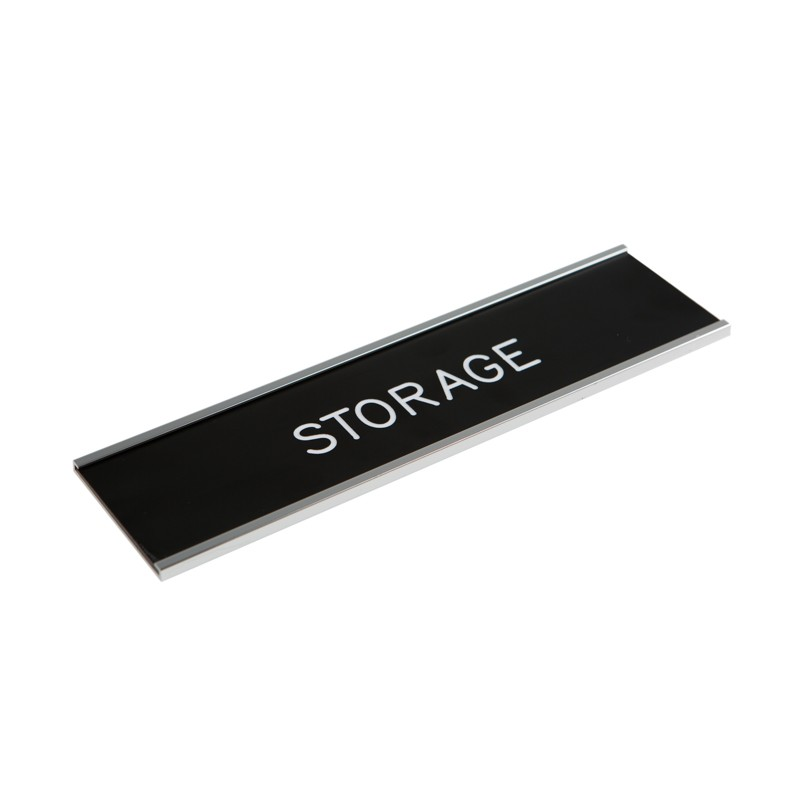 Wall Nameplate With Frame - 8W x 2H - 1 Line