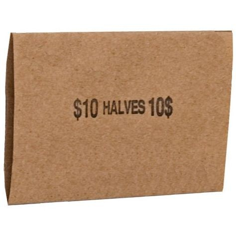 Half Dollar Coin Wrappers - Flat