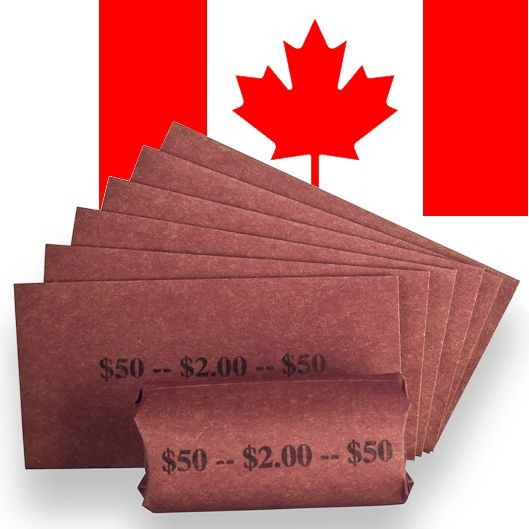 Toonie Two Dollar Coin Wrappers - Flat