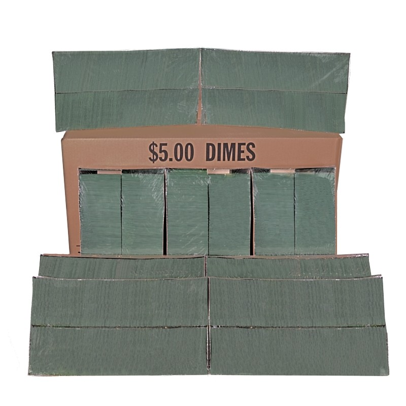 Dime Coin Wrappers - Flat - Case of 20,000