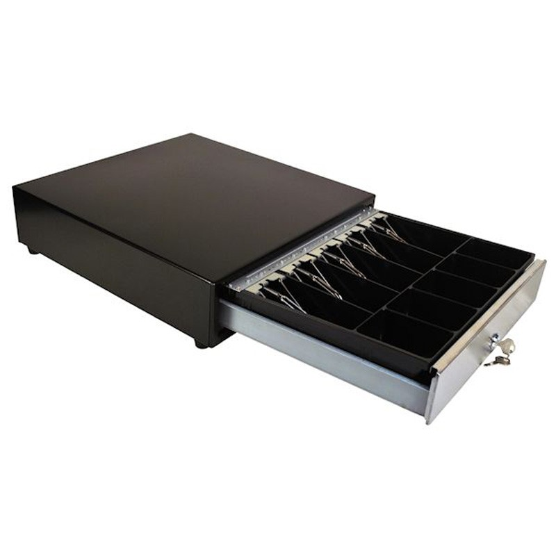 BLACK Manual SPRING BOLT LOCK Cash Drawer
