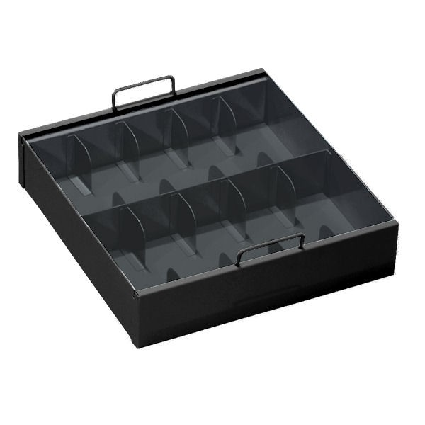 10-Compartment 15-1/16W x 3-1/2H x 15D  Currency Tray