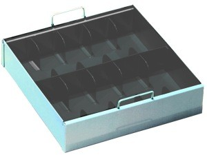 Gray 10-Compartment Currency Tray