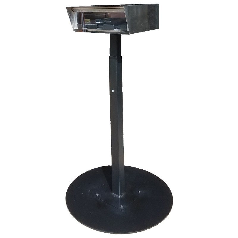 Stainless Steel Drive-Up Forms Dispenser with Portable Round Base