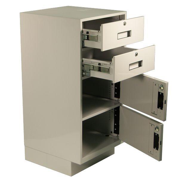 Fenco Silverline Pedestal, (2) Box Drawers, (2) Doors