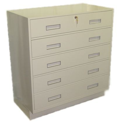 Fenco Silverline Pedestal, (5) Full Width Drawers, 38-1/2 In W (Top lock only)