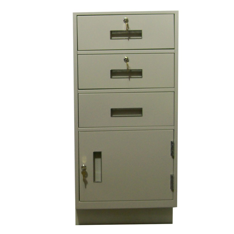 Fenco Silverline Pedestal, (3) Box Drawers, (1) Cabinet