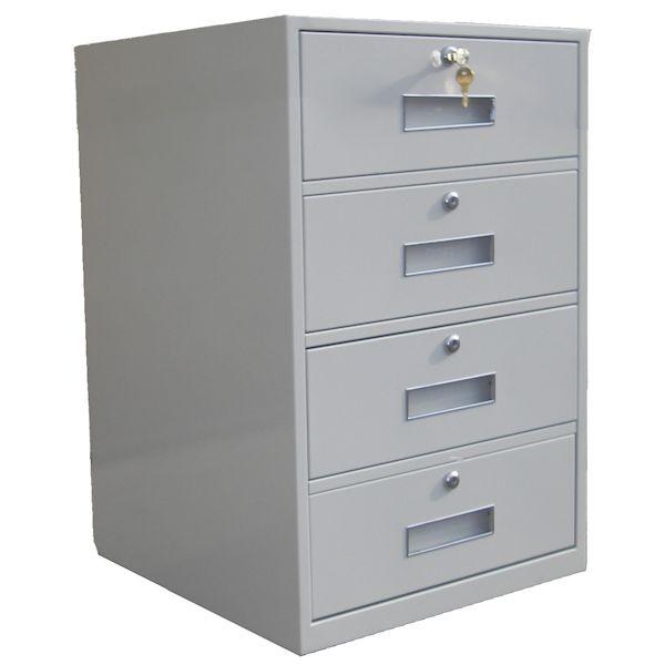 Fenco Silverline Lowboy Pedestal, (4) Drawers