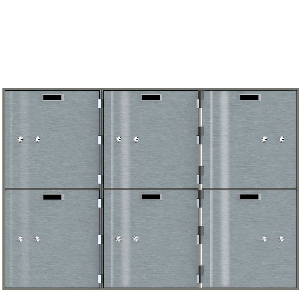 Safe Deposit Boxes - 6 Boxes 10 in W x 10 in H