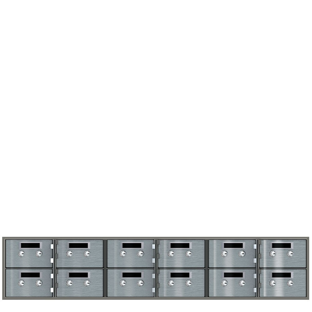 Safe Deposit Boxes - 12 Boxes 5 in W x 3 in H