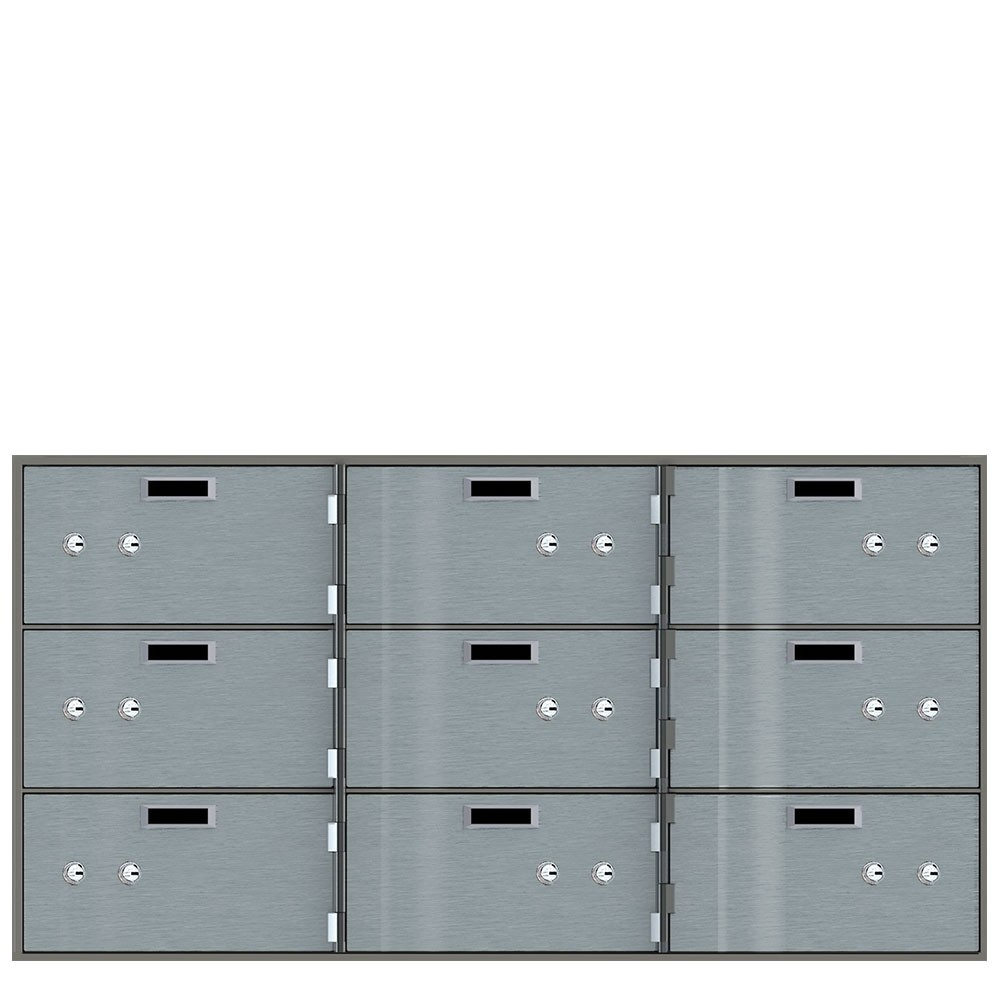 Safe Deposit Boxes - 9 Boxes 10 in W x 5 in H