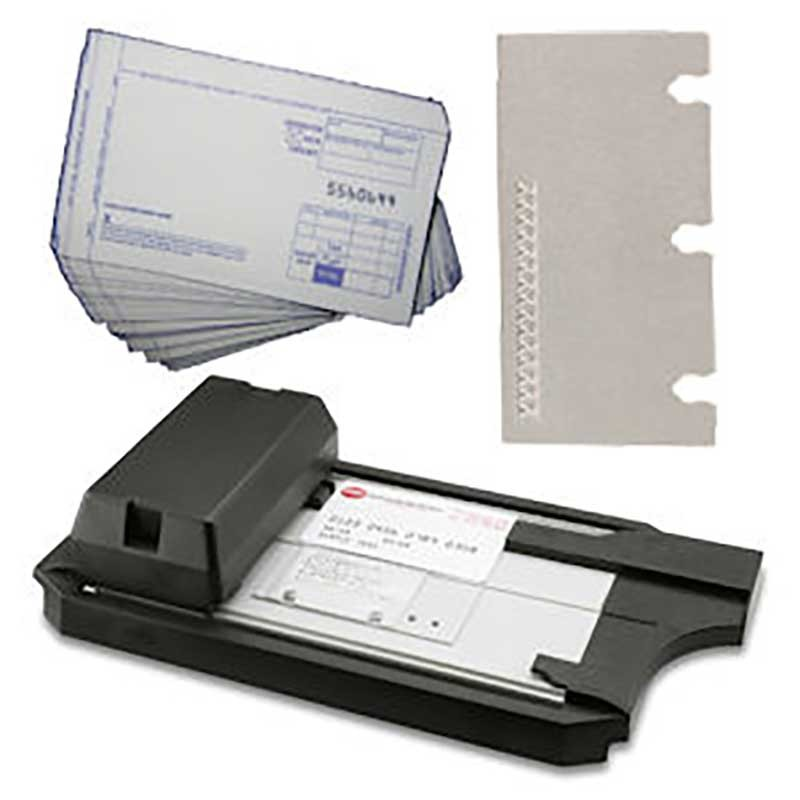Manual Credit Card Imprint Kit w/Custom Plate & slips