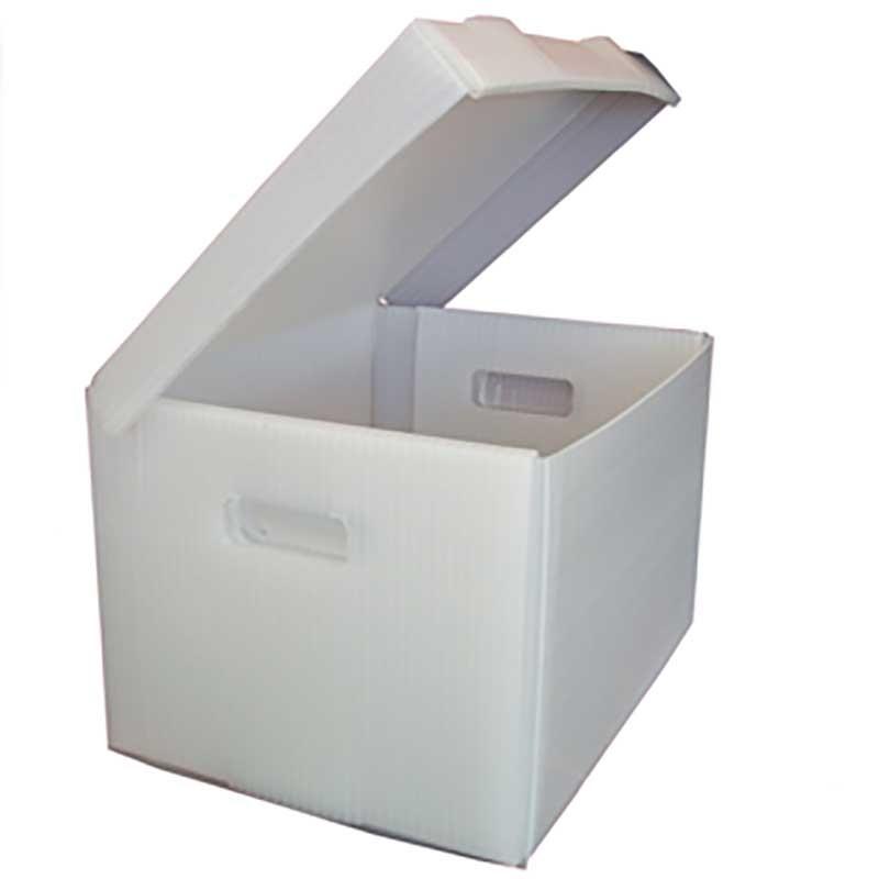 corrugated plastic file box - lot of 160 boxes paper file box