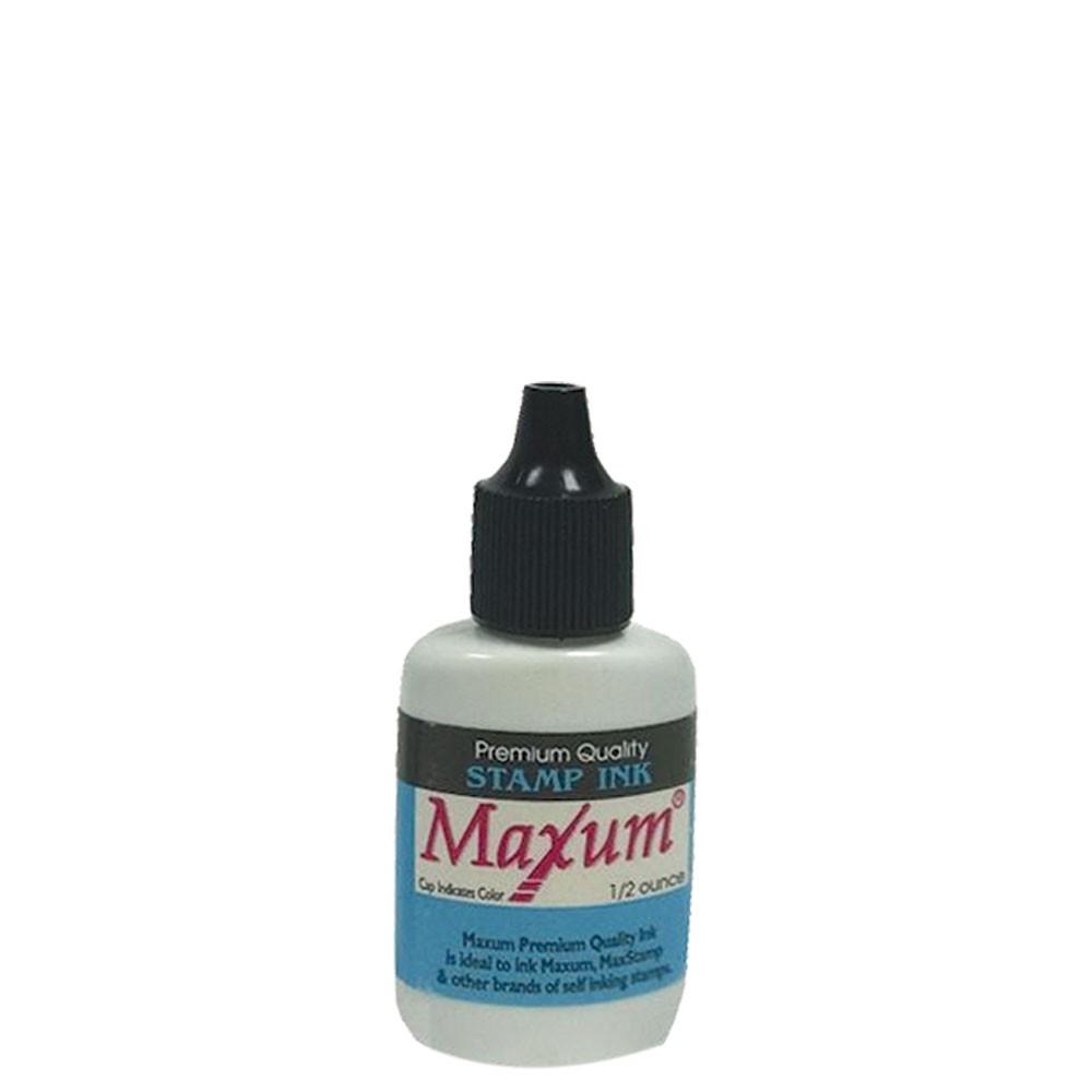 Blue 1/2 oz Maxum Stamp Ink