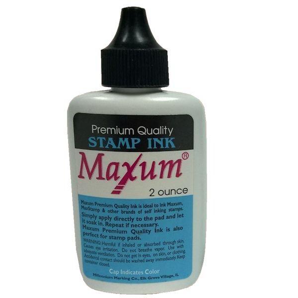 Blue 2 oz Maxum Stamp Ink