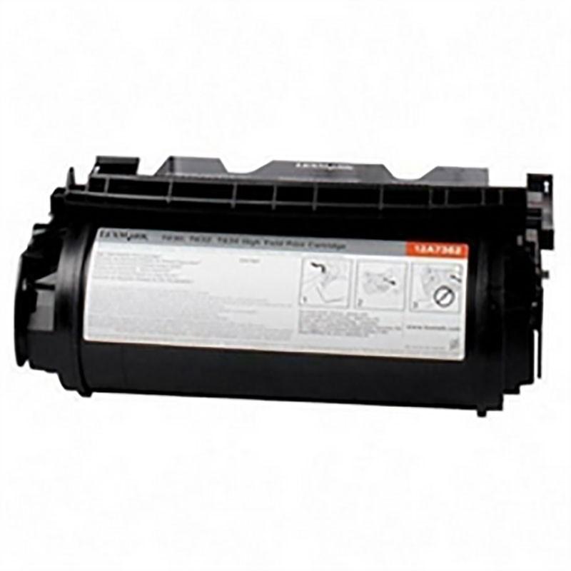 Lexmark Toner Cartridge - Black - Compatible - OEM 12A7365
