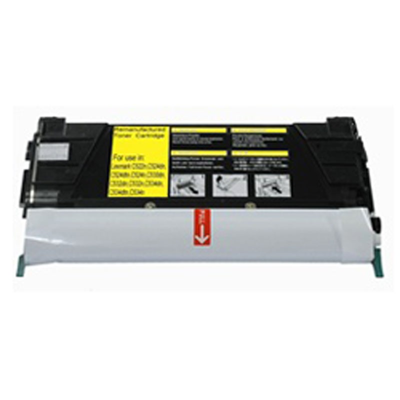 Lexmark Toner Cartridge - Yellow - Compatible - OEM C5242YH