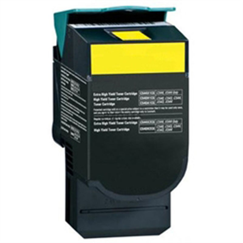 Lexmark High Yield Toner Cartridge - Yellow - Compatible - OEM C544X1YG