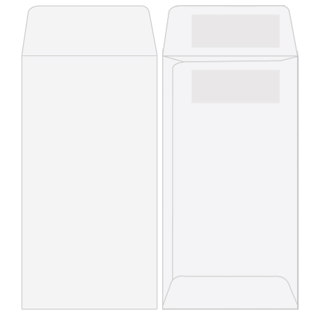 Drive-Up Coin Envelopes - Blank Open End - 3-1/2in x 6-1/2in