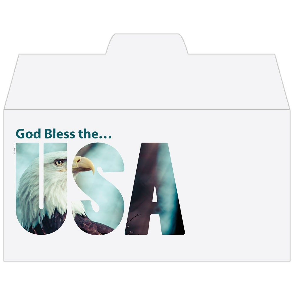 Ready-to-Ship Drive Up Envelopes - God Bless the USA