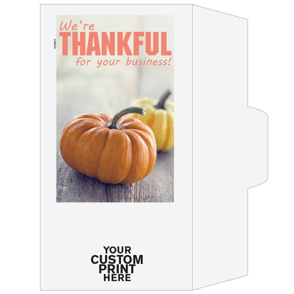 Ready-to-Ship Drive Up Envelopes - We're Thankful For Your Business! - w / 1 Color Custom Print
