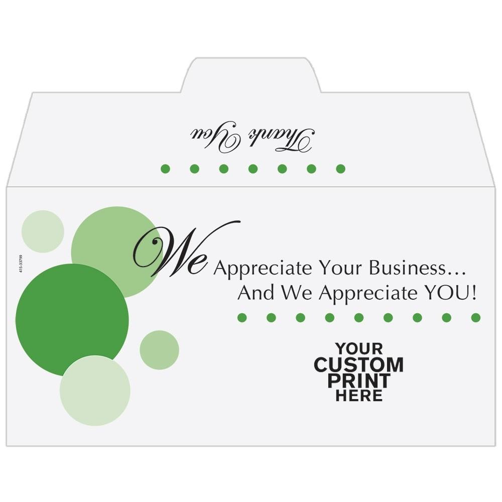 Ready-to-Ship Drive Up Envelopes - We Appreciate You! - w / 1 Color Custom Print