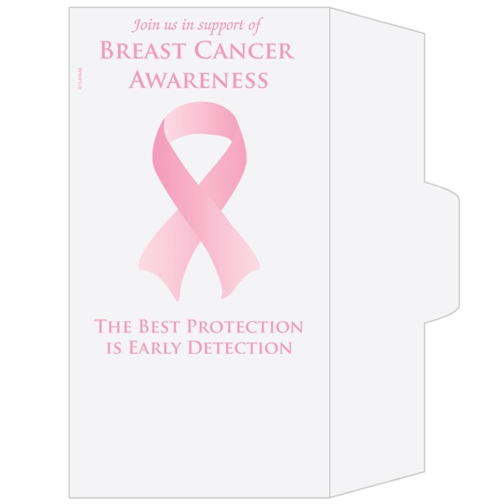 Ready-to-Ship Drive Up Envelopes - Breast Cancer Awareness - Ribbon
