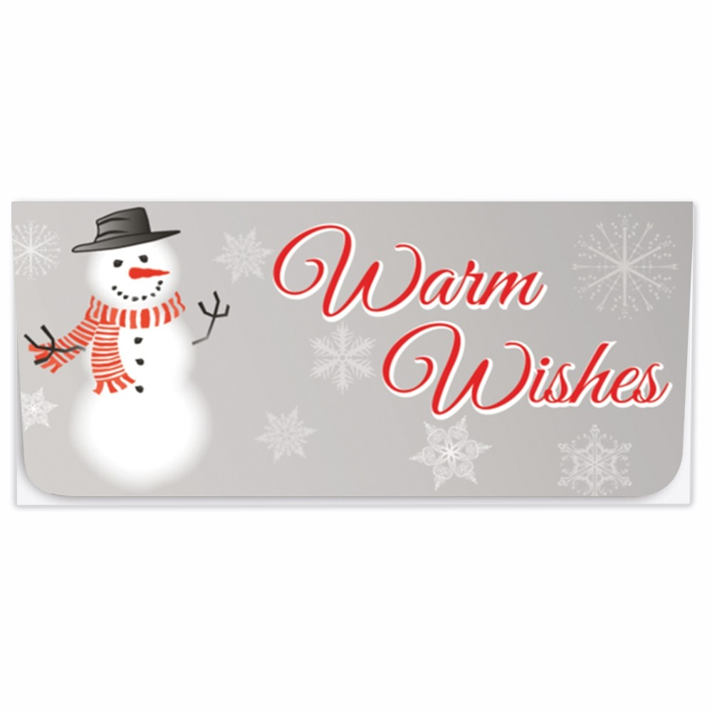 Exclusive Holiday Currency Envelopes - Warm Wishes - Snowman