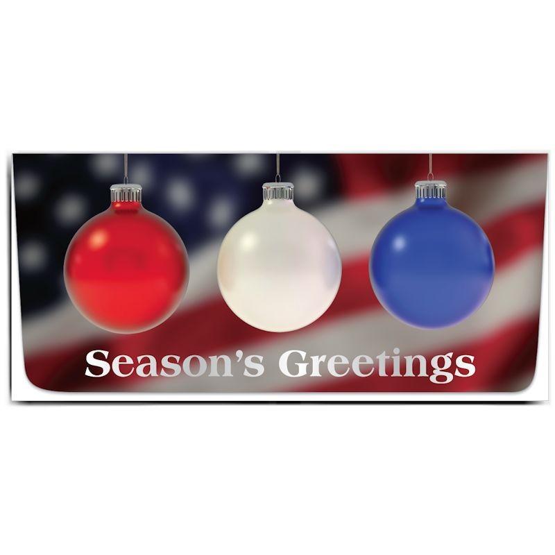 Exclusive Holiday Currency Envelopes - Seasons Greetings - Patriotic Ornaments
