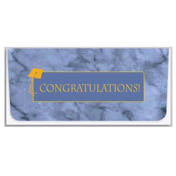 Currency Gift Envelopes - Congratulations - Blue & Gold Graduation