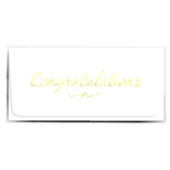 Currency Gift Envelopes - Congratulations - Gold Script