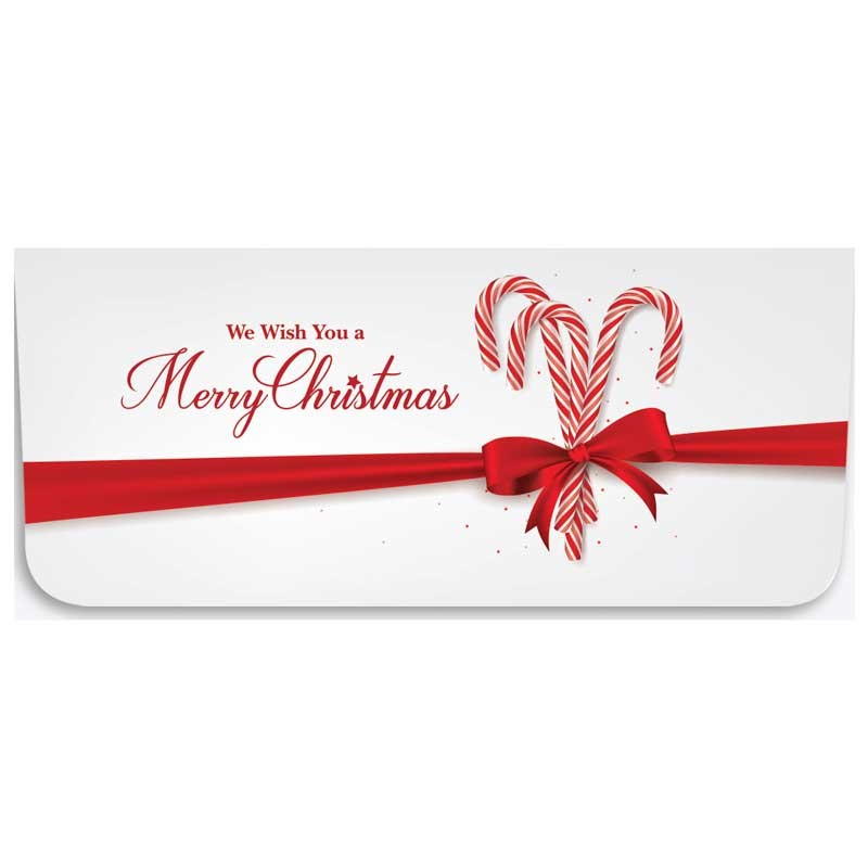 Holiday Currency Envelopes - Merry Christmas - Candy Canes