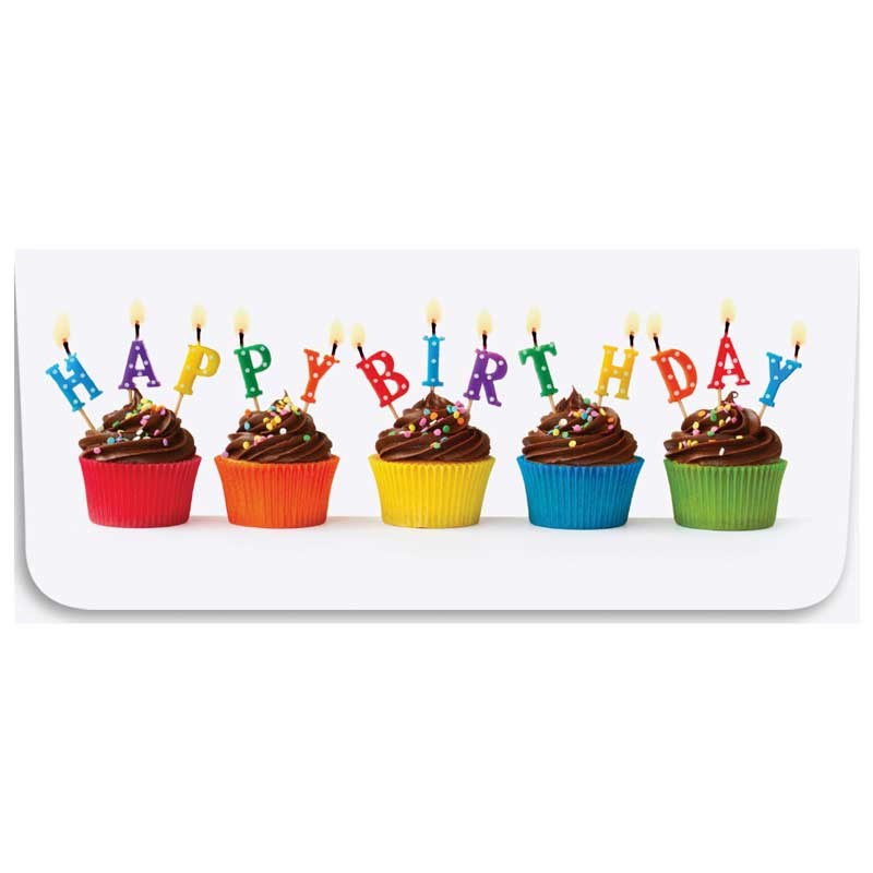 Currency Gift Envelopes - Happy Birthday - Cupcakes