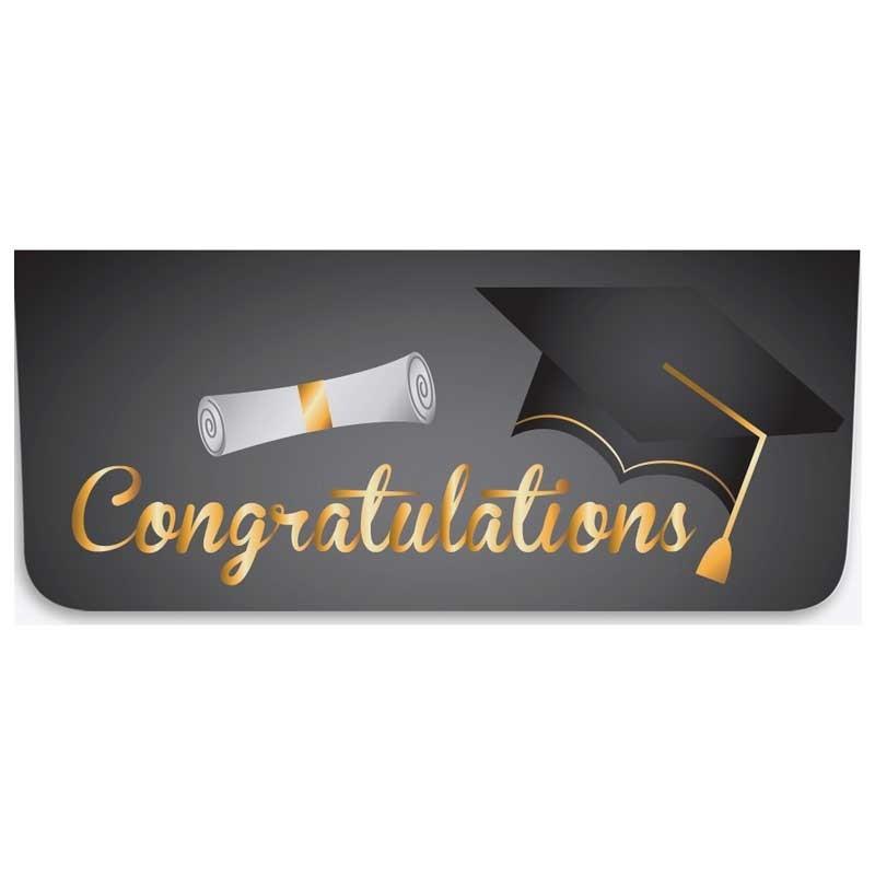 Currency Gift Envelopes - Congratulations - Cap & Diploma