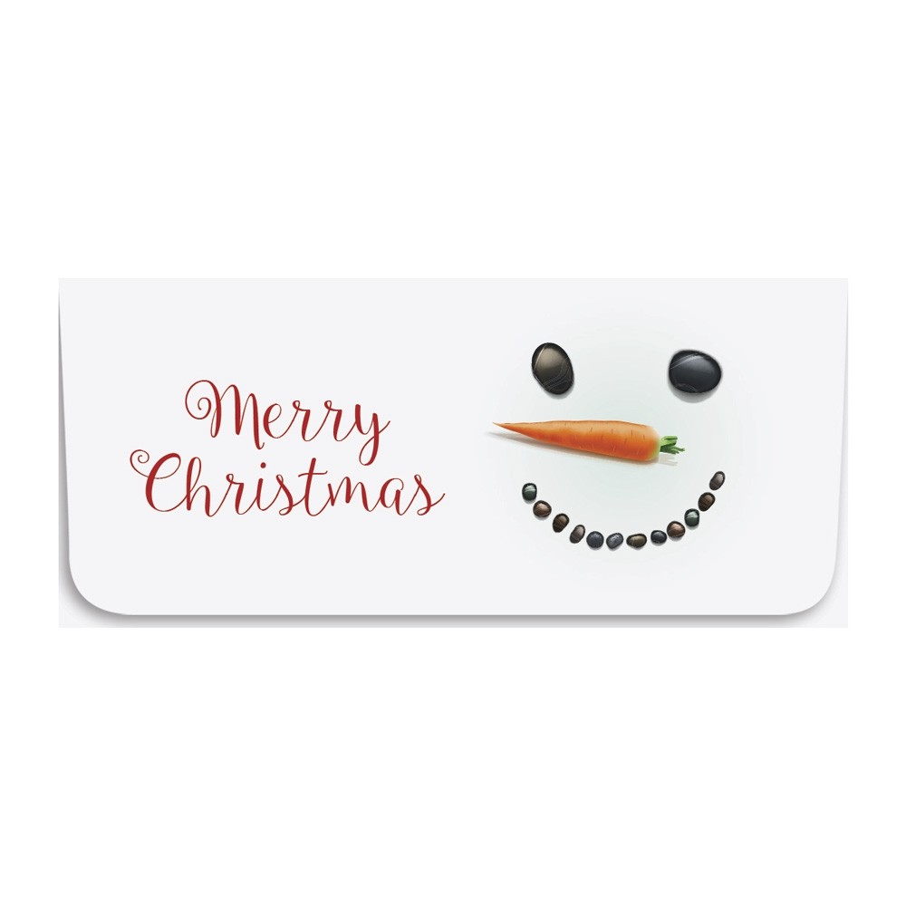 Holiday Currency Envelopes - Merry Christmas - Snowman Face