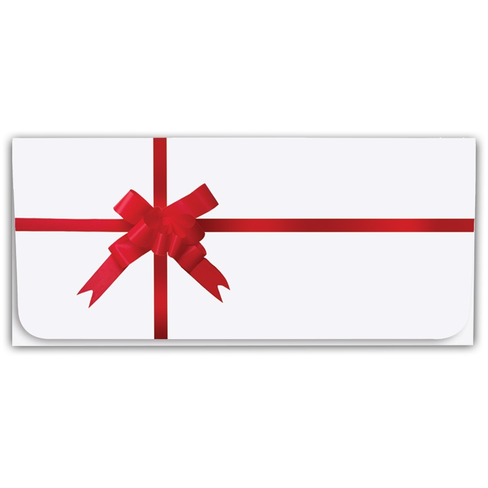 Holiday Currency Envelopes - Red Ribbon & Bow