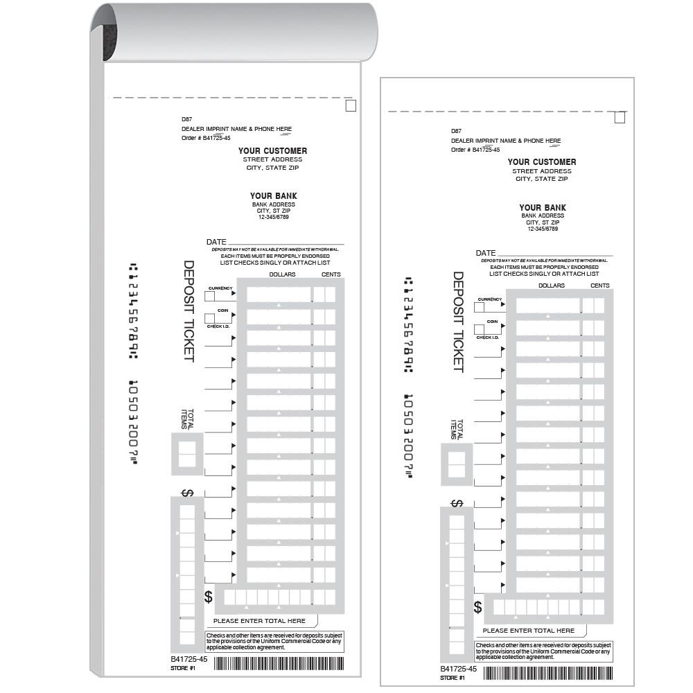 Deposit Slips 12 Line W Barcode
