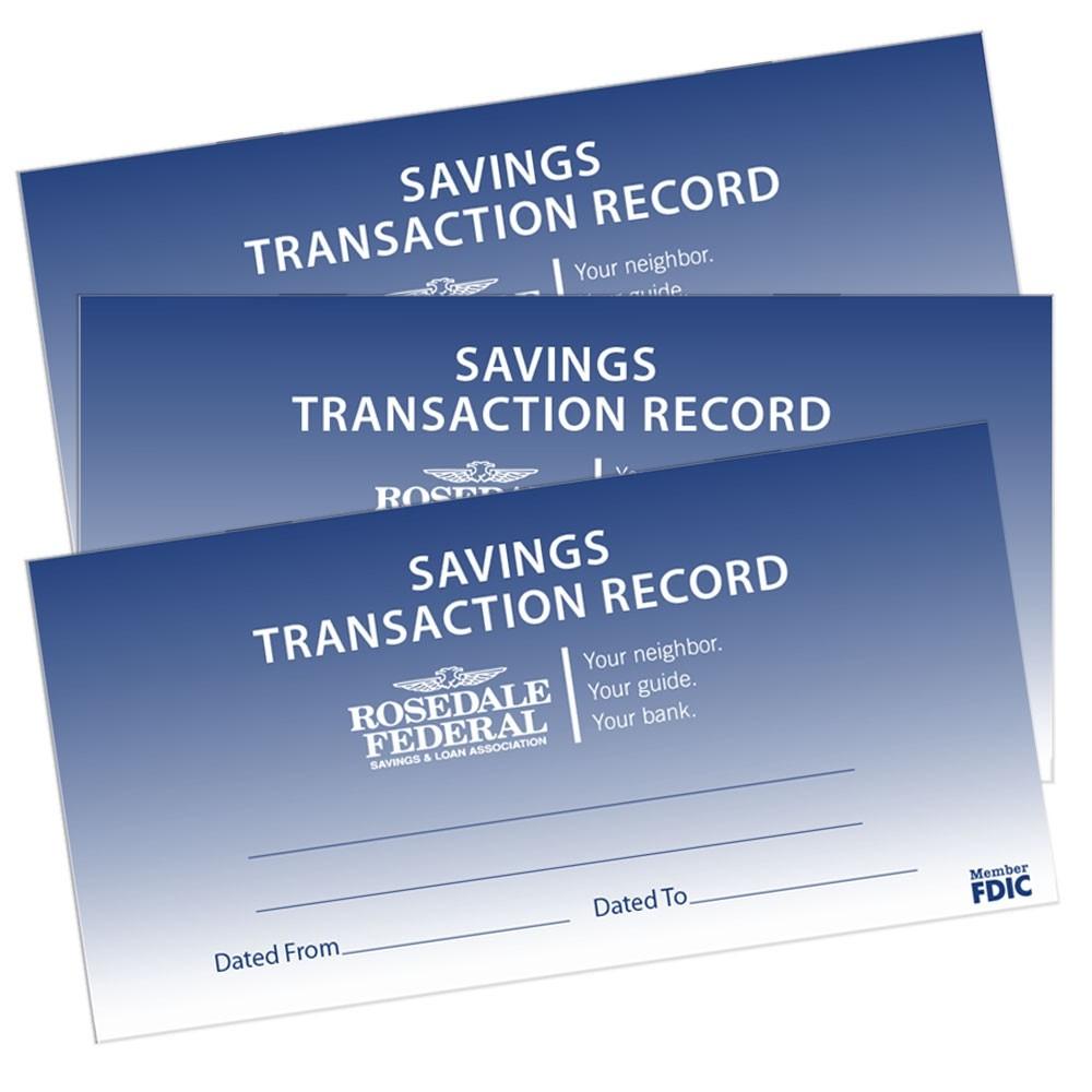 Custom Savings Transaction Register