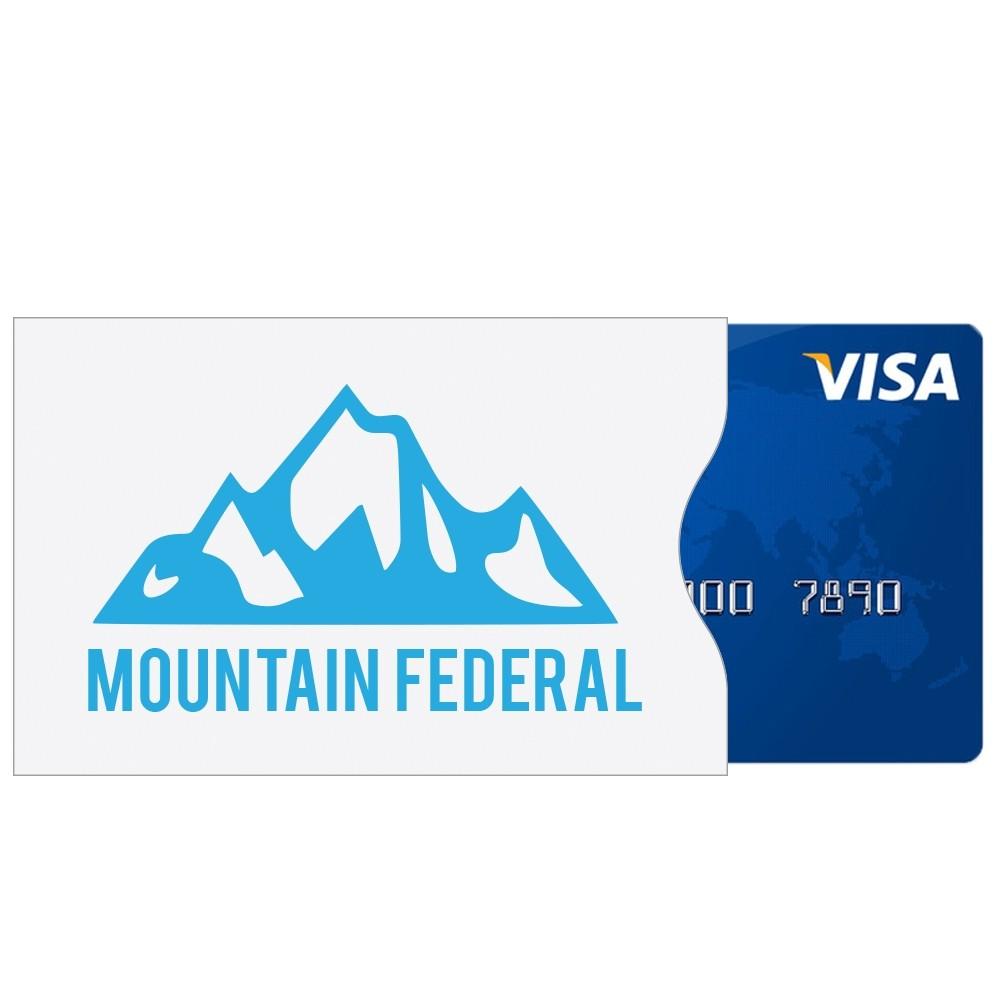 3-1/2W x 2-1/4H TYVEK Debit Card Sleeves - Custom 1-color Imprint
