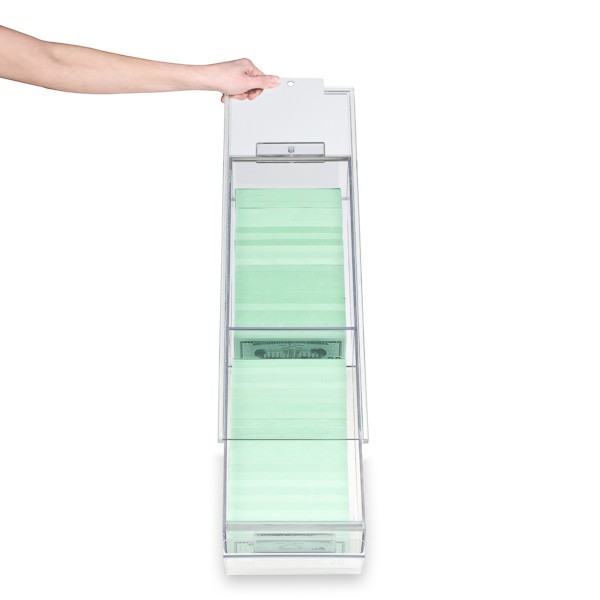 Clear Locking Currency Tray, 4000 note