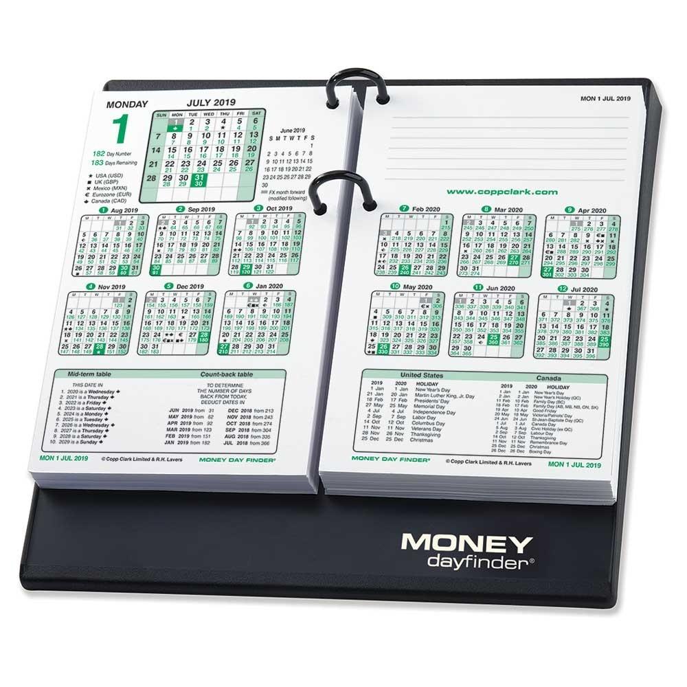 Money Day Finder 2019 Calendar and Base Set