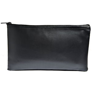 Black Zipper Bag - 11W x 6H - Expanded Vinyl