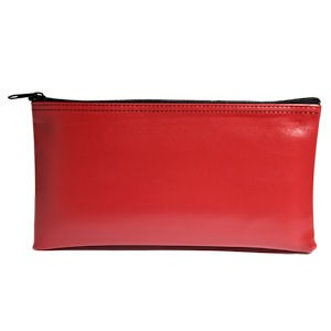Red Zipper Bag - 11W x 6H - Expanded Vinyl