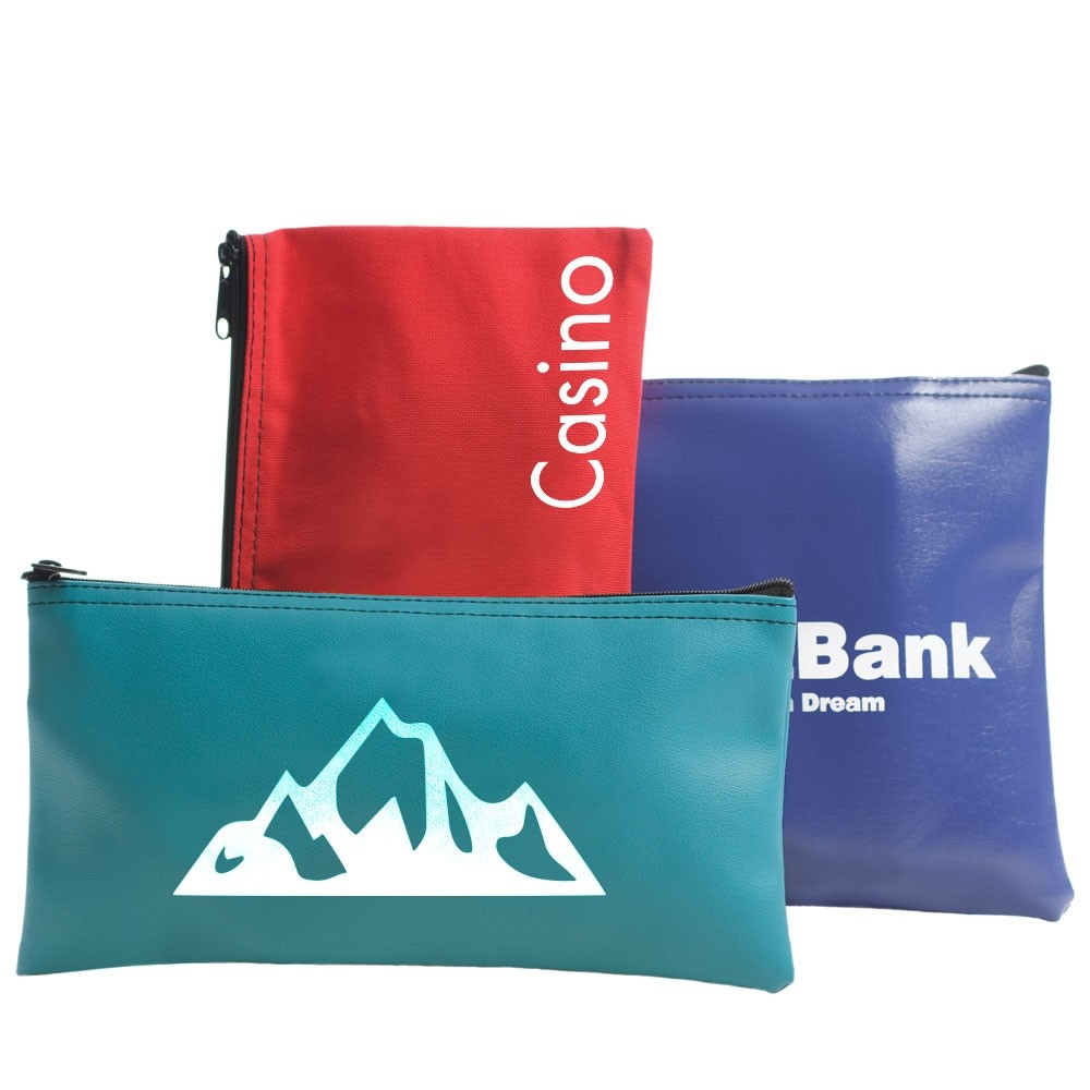 10-1/2W x 5-1/2H Horizontal Zipper Bag - Made to Order