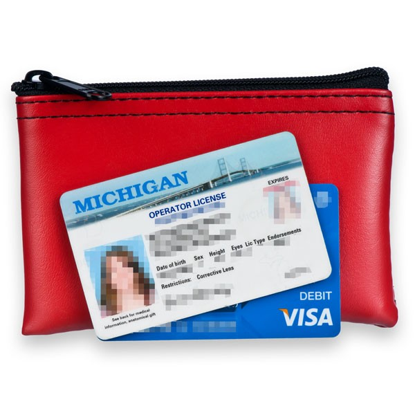 Red Mini Zipper Bag - 5W x 3H - Expanded Vinyl