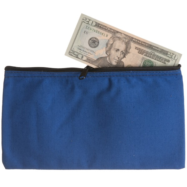 10-1/2W x 5-1/2H Zipper Bags - Royal Blue Canvas