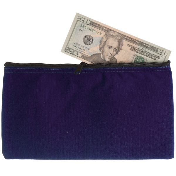 10-1/2W x 5-1/2H Zipper Bags - Purple Canvas